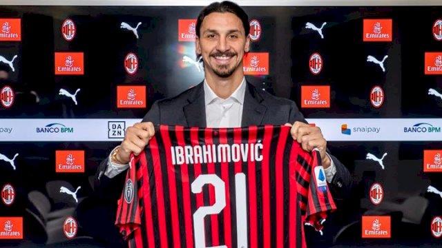 Zlatan Ibrahimovic gabung Milan. (int)