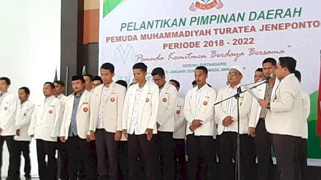Pelantikan pengurus PD Pemuda Muhammadiyah Turatea. (ist)