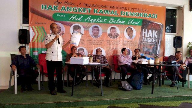 Peluncuran buku Hak Angket Kawal Demokrasi . (Sulselsatu/Asrul)