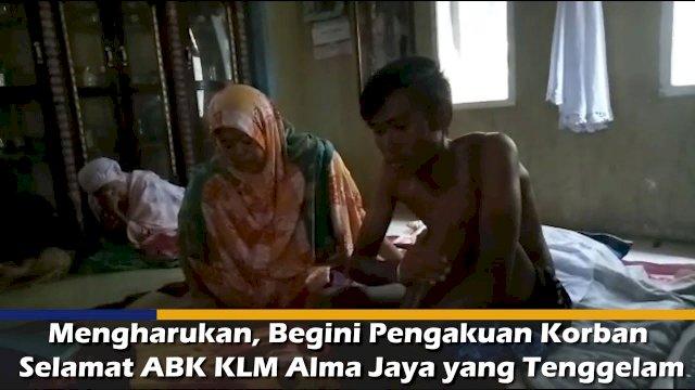 VIDEO: Mengharukan, Begini Pengakuan Korban Selamat ABK KLM Alma Jaya yang Tenggelam