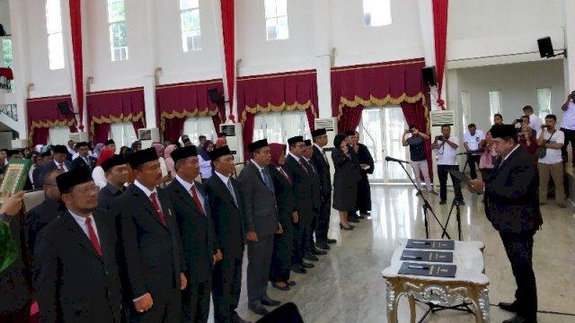 Nurdin Abdullah Kembali Mutasi Pejabat Eselon II dan III, None Digeser Jadi Staf Ahli