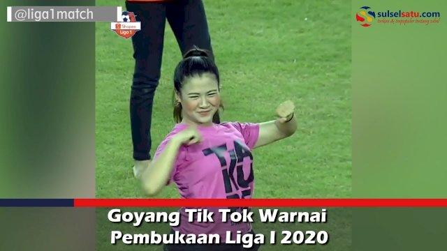 VIDEO: Goyang Tik Tok Warnai Pembukaan Liga I 2020