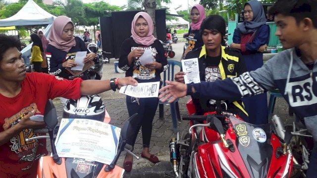 Kampanye keselamatan berlalulintas di Alun-Alun Colliq Pujie Barru. (ist)
