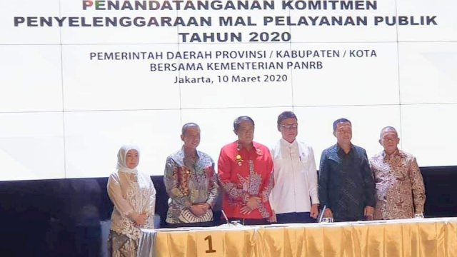 Penandatanganan komitmen penyelenggaraan MPP di KemenPAN-RB. (ist)