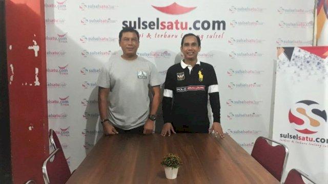 Kapolrestabes Makassar Kombes Pol Yudhiawan Wibisono dan Komut Sulselsatu.com Rudianto Lallo.SH. (Sulselsatu/Hendra Wijaya)