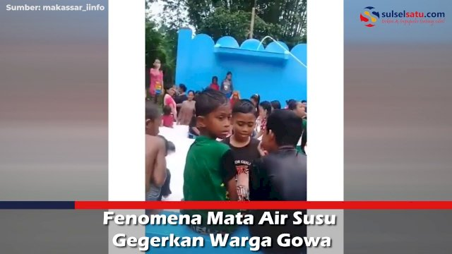 VIDEO: Fenomena Mata Air Susu Gegerkan Warga Gowa