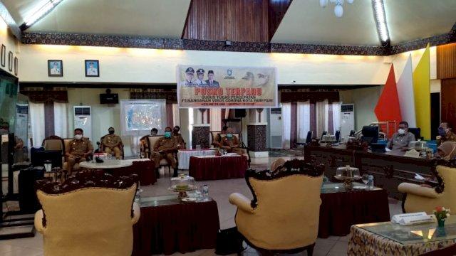 Pemkot Parepare ikuti Musrenbang RKPD Sulsel via video conference. (ist)