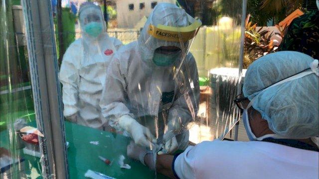 Rapid test coronavirus diasse (Covid-19) di Kota Makassar. (ist)