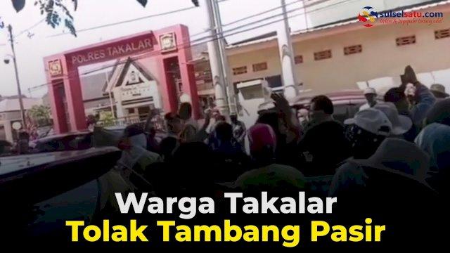VIDEO: Warga Takalar Tolak Tambang Pasir