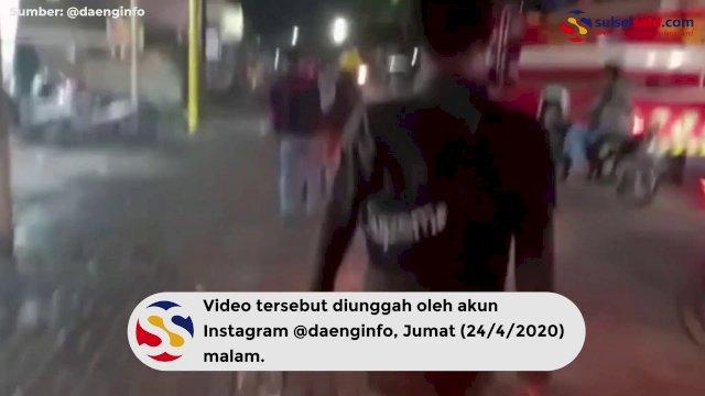 VIDEO: Tak Patuhi PSBB, Sejumlah Warkop di Makassar Disemprot Air Pemadam Kebakaran