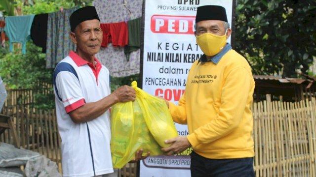 Fahruddin Rangga Salurkan Bantuan Sembako ke Warga di Kabupaten Gowa