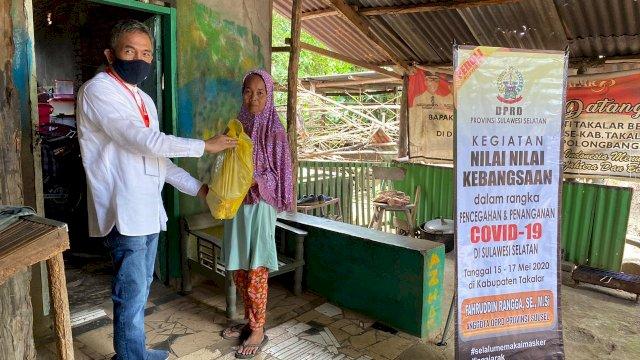 Sembako dan Masker Rangga Sasar Tiga Kecamatan di Takalar