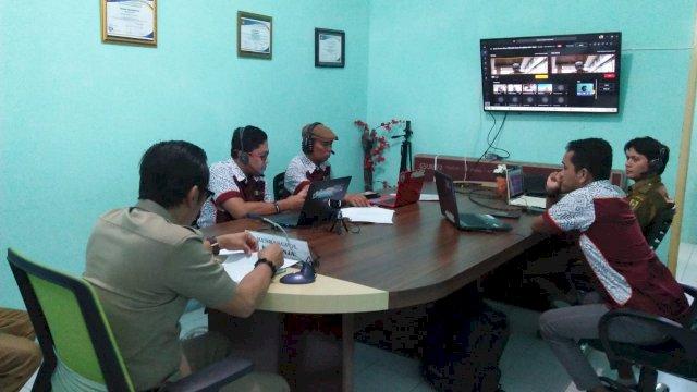 Rapat via virtual Dinas Pendidikan Sinjai bersama PT Microsoft Indonesia. (ist)