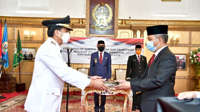 Rudy Djamaluddin Resmi Jabat Pj Wali Kota Makassar