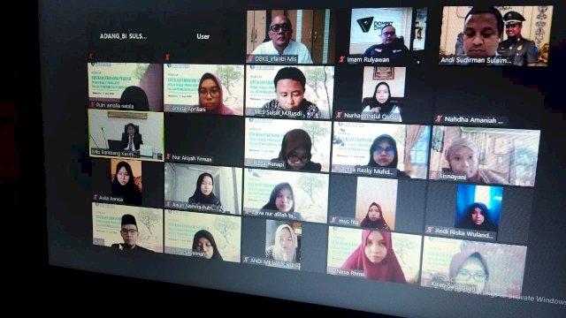 Webinar ekonomi syariah via virtual yang digelar Bank Indonesia Perwakilan Sulsel. (ist)