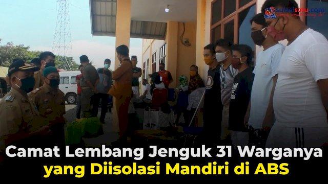 VIDEO: Camat Lembang Jenguk 31 Warganya yang Diisolasi Mandiri di ABS