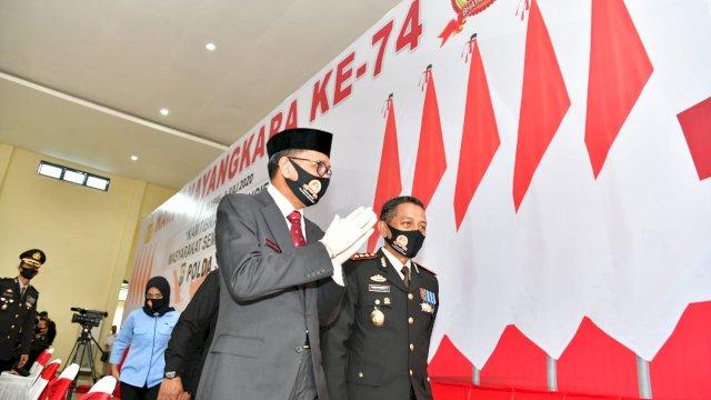 HUT ke-74 Bhayangkara, Nurdin Abdullah: Semakin Profesional, Modern dan Terpercaya