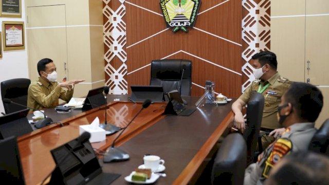 Menjelang Pembatasan Pergerakan Wilayah, Rudy Temui Bupati Gowa dan Maros