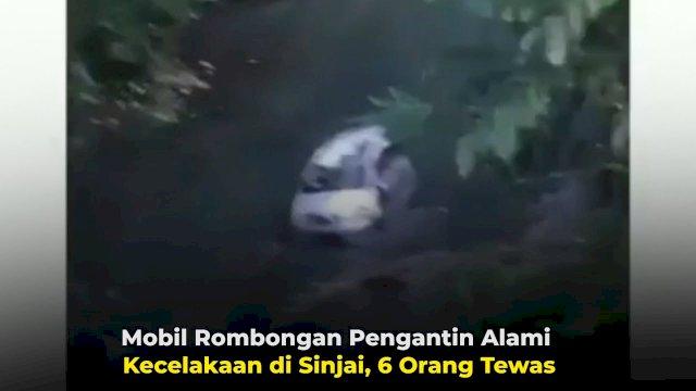 VIDEO: Mobil Rombongan Pengantin Alami Kecelakaan di Sinjai, 6 Orang Tewas