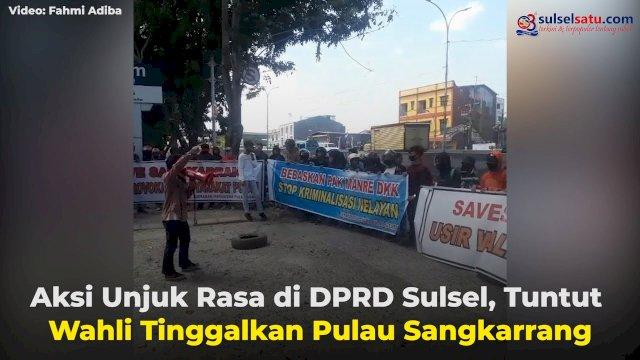 VIDEO: Aksi Unjuk Rasa di DPRD Sulsel, Tuntut Wahli Tinggalkan Pulau Sangkarrang