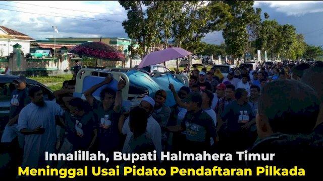 VIDEO: Innalillah, Bupati Halmahera Timur Meninggal Usai Pidato Pendaftaran Pilkada