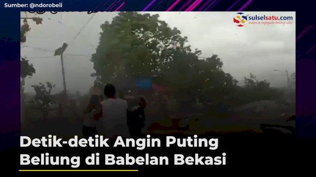 VIDEO: Detik-detik Angin Puting Beliung di Babelan Bekasi