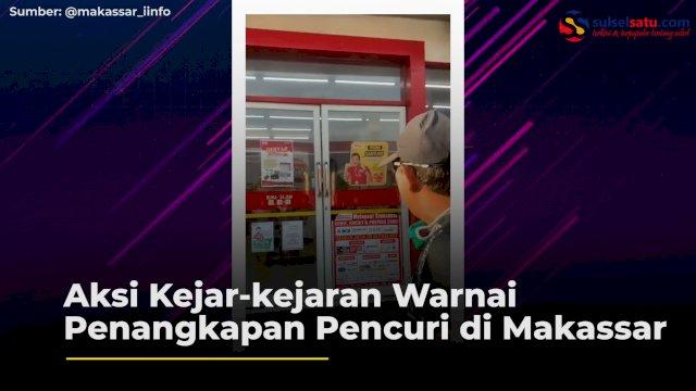 Aksi Kejar-kejaran Warnai Penangkapan Pencuri di Makassar