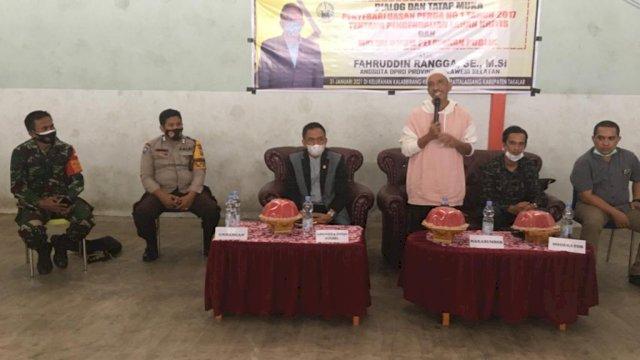 Fahruddin Rangga Bahas Pengendalian Lahan Kritis Saat Sosper di Takalar
