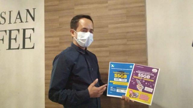 Head Sales PT XL Axiata Area Sulsel-Sultra, Mozes Haryanto Baottong. (Foto: Resti Setiawati/Sulselsatu.com).