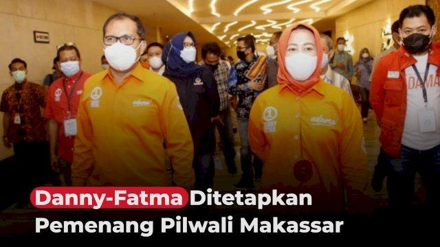 VIDEO: Danny-Fatma Ditetapkan Pemenang Pilwali Makassar