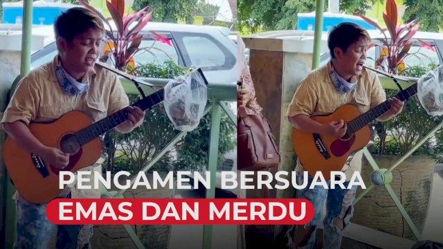 VIDEO: Pengamen Bersuara Emas di Makassar, Suaranya Mirip Penyanyi Asli