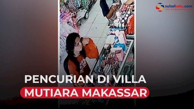 VIDEO: Pencurian di Villa Mutiara Makassar, Pelaku Pakai Baju Komunitas