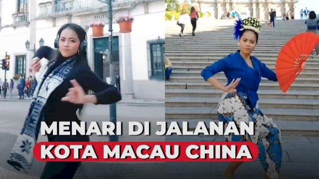 VIDEO: Lestarikan Budaya Indonesia, WNI Ini Menari di Jalanan Kota Macau China