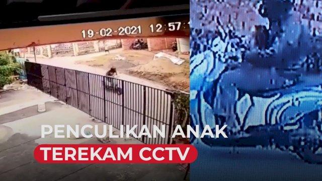 VIDEO: Penculikan Anak di Palembang Terekam CCTV