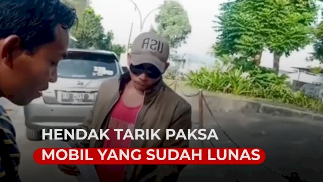 VIDEO: Viral, Debt Collector Hendak Tarik Paksa Mobil yang Sudah Lunas di Jalan Sepi