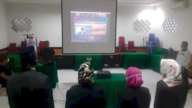 DKPP Kukuhkan 6 Anggota TPD Sulsel Secara Virtual