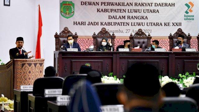 Hut Kabupaten Lutra Ke-22, Plt Gubernur Sulsel Siapkan Rp 40 Miliar Pembangunan Infrastruktur Hingga PEN