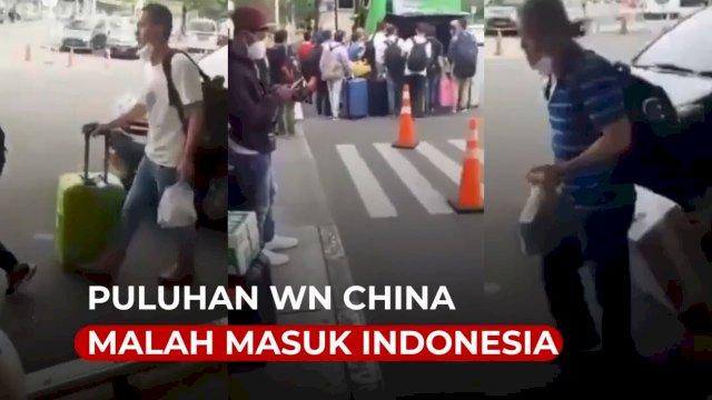 VIDEO: Warga Dilarang Mudik, Puluhan WN China Malah Masuk Indonesia