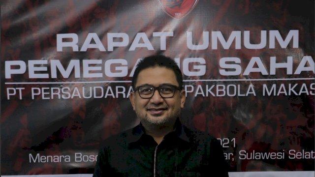 Dirut PSM Makassar, Munafri Arifuddin.