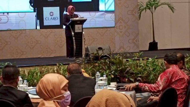 Apiaty Amin Syam membuka Rapat Koordinasi (rakor) Dewan Pendidikan Kota Makassar, di Hotel Grand Claro, Selasa (25/5/2021).