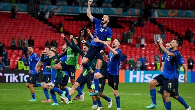 Italia belum terbendung di Euro 2020. Setelah memastikan lolos ke 8 besar bersama Denmark.