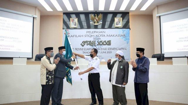 Lepas Peserta Tilawatil Quran, Danny Pomanto Harap Kafilah Kota Makassar Kembali Raih Juara Umum