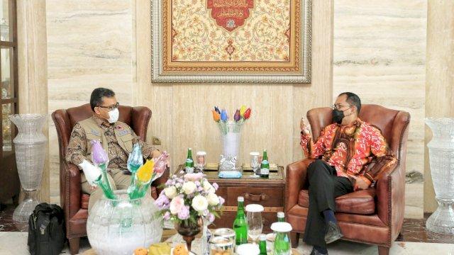 Wali Kota Makassar Bahas Tugas dan Fungsi BNPB Bersama Deputi BNPB