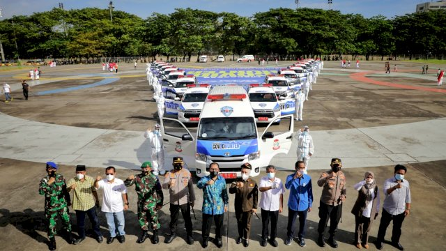 Resmi Dilaunching, 17 Unit Mobil Covid Hunter Siap Putus Penyebaran Covid 19