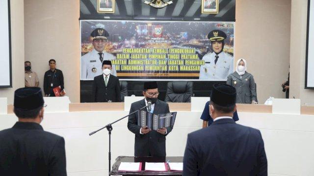 Danny Kukuhkan 61 Pejabat Pemkot Makassar