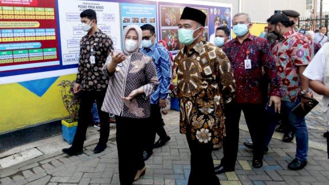 Menko PMK RI Apresiasi Upaya Pemkot Makassar Tekan Laju Covid
