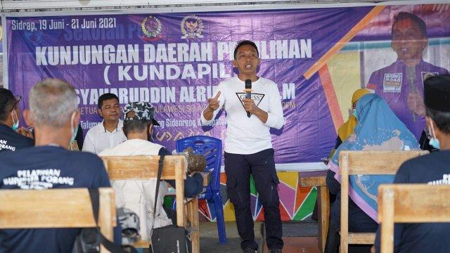Syaharuddin Alrif Kundapil di Watang Sidenreng, Pantau Program Pemerintah