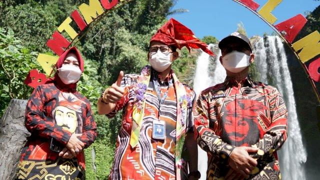 Sandiaga Uno Minta Pemkab Gowa Perketat Prokes Covid-19 di Lokasi Wisata