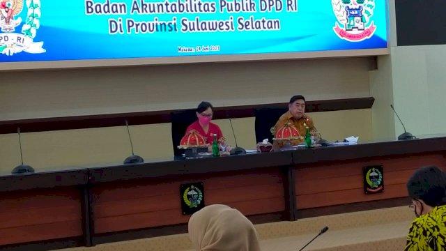 DPD RI dan Pemprov Sulsel Bahas Penyelesaian Lahan SMA N 4 Makassar