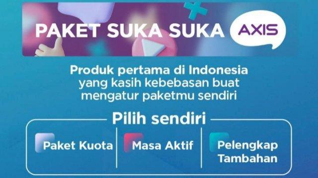 Paket Suka Suka AXIS, Pelanggan Bisa Pilih Kuota dan Masa Aktif